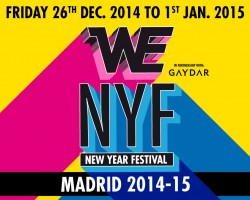 WE PARTY NEW YEAR FESTIVAL · MADRID 2014/15: First Advance Line-up